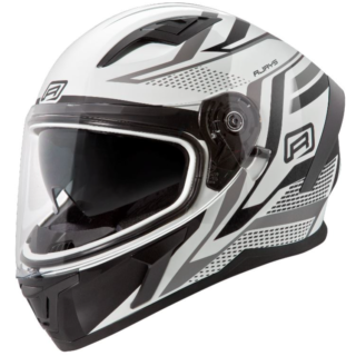 RJays Apex 111 Helm Ignite White Black Helmet