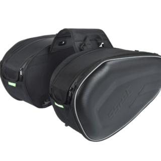 SSPEC Motorcycle Pannier Bags Black